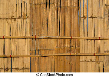 Bamboo wall surface.