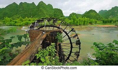 Bamboo water wheel
