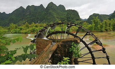 Bamboo water wheel