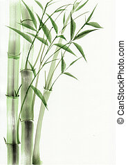 Bamboo watercolor painting - Bamboo original watercolor...