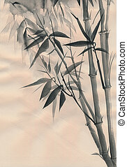 Bamboo watercolor painting