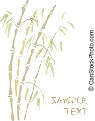 Bamboo. Watercolor style.