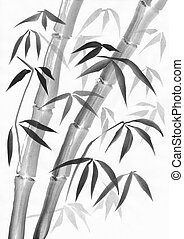 Bamboo with couple of stalks
