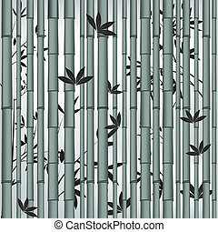 bambou, asiatique, forêt, seamless