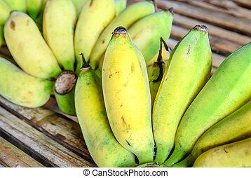 bambou, banane, plancher