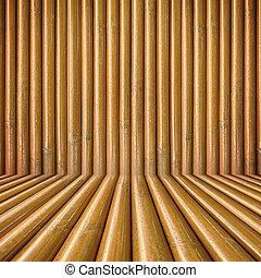 bambou, bois, fond
