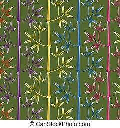 bambou, coloré, fond