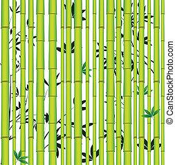 bambu, asiático, floresta, seamless