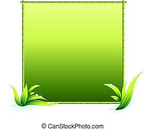 bambu, elementos, borda