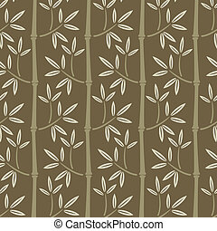 bambu, papel parede, seamless