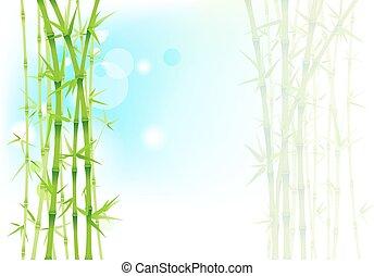 bambus, asijský, grafické pozadí