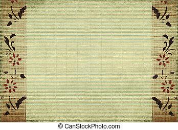 bambus, blume, hintergrund
