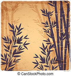 bambus, freigestellt, abbildung