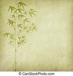 bambus, gemälde, o, chinesisches , tinte