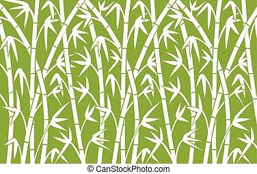 bambus, grüner hintergrund, stämme