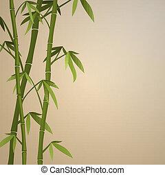 bambus, hintergrund, stämme