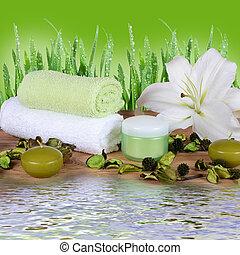 bambus, komplet, kilim, spa-procedures