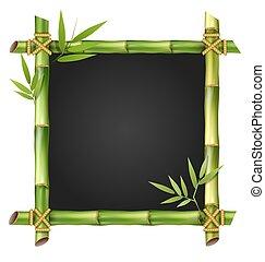 bambus, pastvina, konstrukce, s, zub, osamocený, oproti neposkvrněný