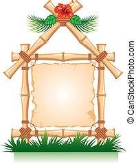 bambus, rahmen