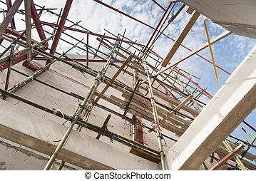 bambus, scaffolds.