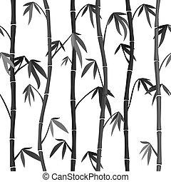 bambus, seamless, hintergrund, stämme