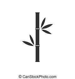 bambus, vektor, brunch