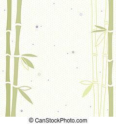 bambusz, vektor, háttér