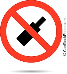 Ban alcohol sign flat icon