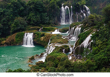 Ban Gioc - Detian falls in Guangxi, China.