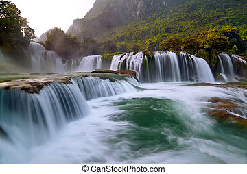 Ban Gioc - Detian waterfall in Cao Bang, Vietnam