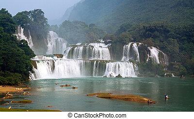 Ban Gioc waterfall in Vietnam