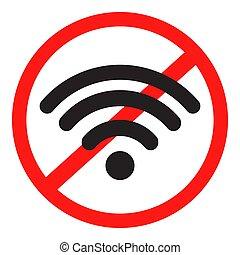 Ban Internet icon. Vector illustration.