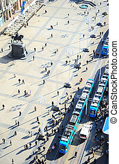 Ban Jelacic Square - Top view of Ban Jelacic Square in...