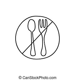Ban of plastic trash. - Vector icon in hand drawn style ban ...