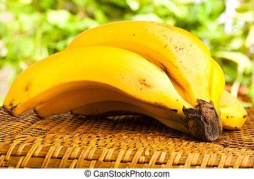 banaan, op, wicker