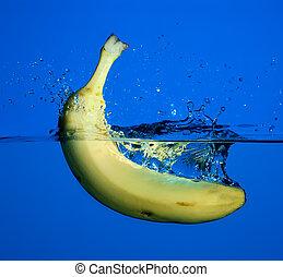 banaan, splash.