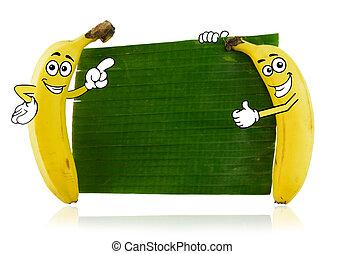 banan, litery, rysunek