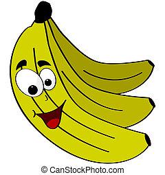 banan, lycklig