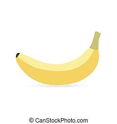 banan, na, niejaki, białe tło
