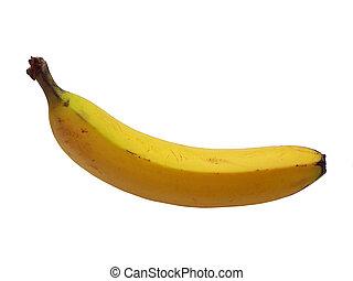 Banana - A banana isolated on white.