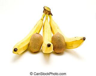 banana and kiwi