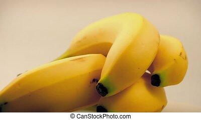 Banana Bunch Rotating On White