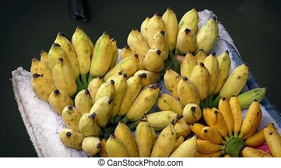 Banana Bunches On Boat
