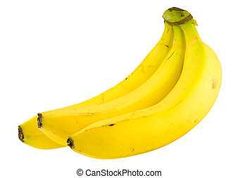 banana bundle isolated on white background