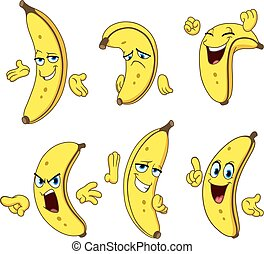banana cartoon set