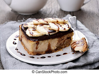 Banana cheese cake