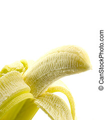 banana close-up over white backround