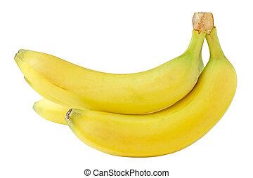 Banana Cluster - Cluster of banana isolated on white ...