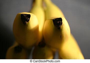 Banana Detail - A detail image of bananas.