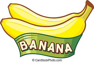 banana, etiqueta